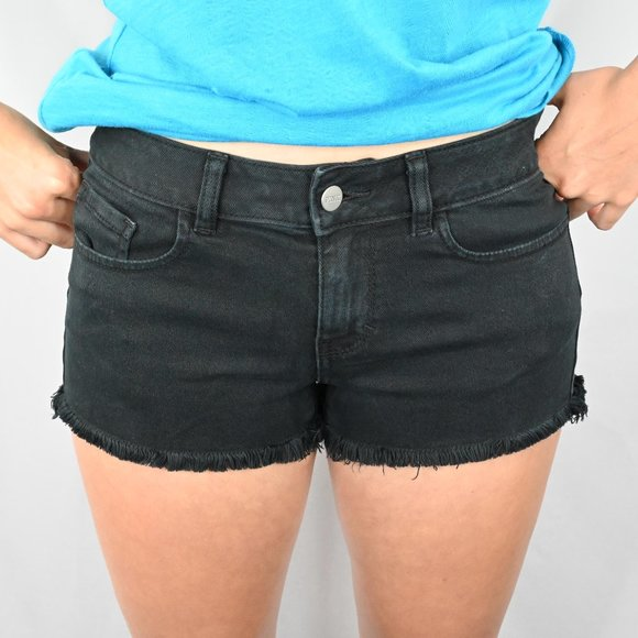 PINK Victoria's Secret Pants - Victoria Secret Black Denim Shorts SZ:2